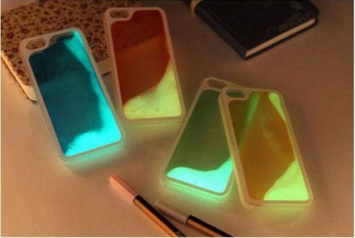 Cover con Liquido Fluorescente per iPhone 5 / 5 s - 6 - 6 plus