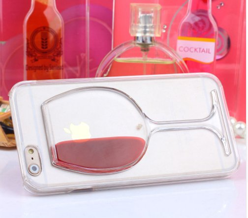 Cover con liquido bicchiere di vino per iPhone 4 – 5 – 6 – 7 ...